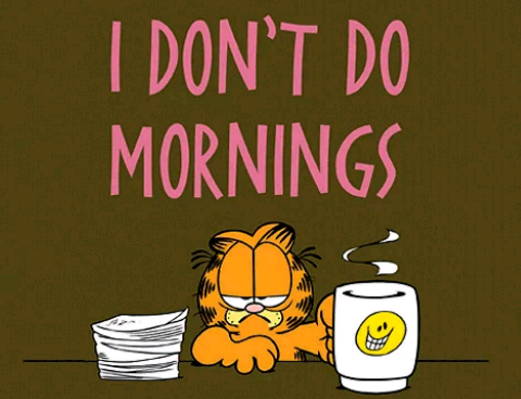 "Do ""it"" in the morning"