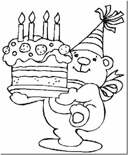 imágenes blanco y negro para colorear  cumpleaños  koala