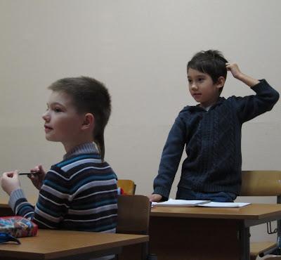 мальчики на уроке