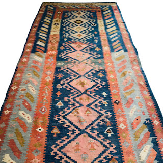 Wool Kilim Large Runner