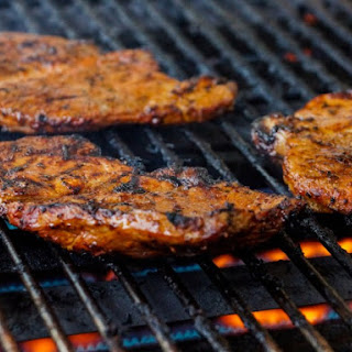 Grilled Honey Pork Steaks