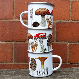 Fungi Enamel mug by Alice Draws The Line