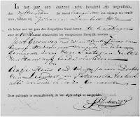 Groeneweg, Jacob en Heus, Aafje Huwelijksafkondiging 18-08-1819 Kralingen.jpg