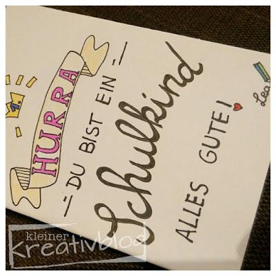 kleiner-kreativblog: Zum Schulbeginn
