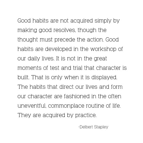 good habits -- stapley