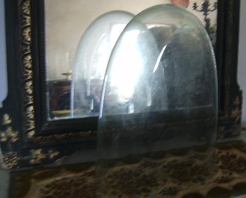ancien globe de mari e verre pendule parure de chemin e cloche. Black Bedroom Furniture Sets. Home Design Ideas