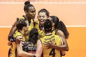 Em Saquarema RJ; Dentil/Praia Clube vence o Itambé/Minas e abre vantagem na Final da Super Liga feminina de vôlei