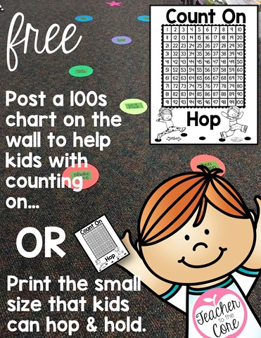 Hopscotch counting on freebie game