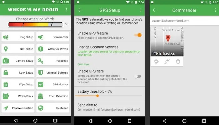 Android Apps to Find Lost Phones Where's My Droid
