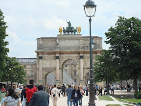 The Arc de Triomphe du Carrousel at The Louvre