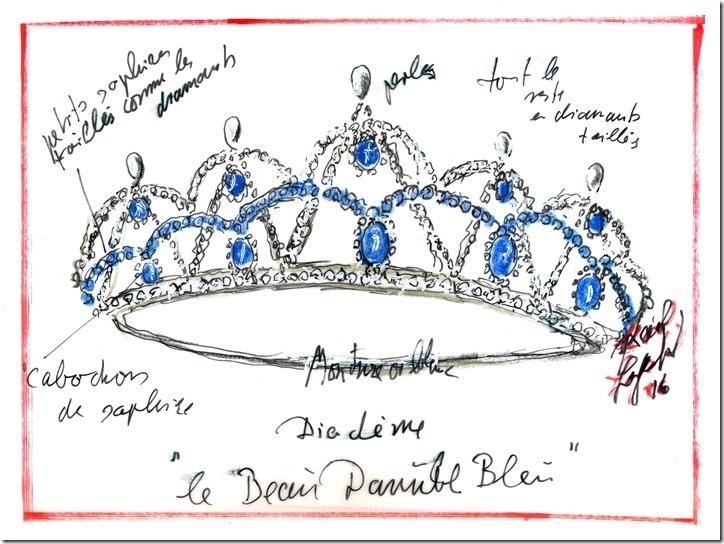 Swarovski Tiara Sketch (c) Karl Lagerfeld copia