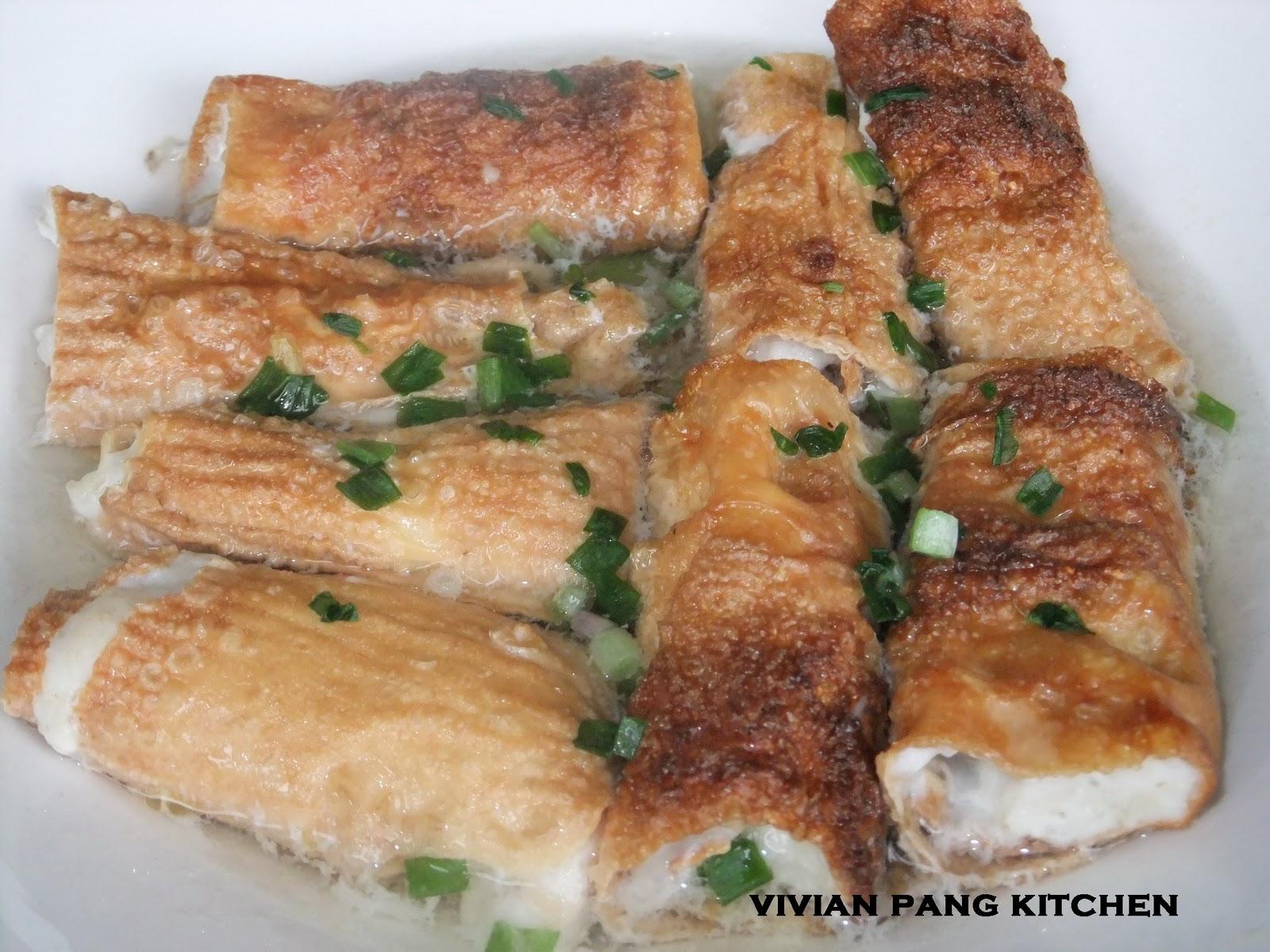 Vivian Pang Kitchen: Fish Paste Bean Curd Rolls
