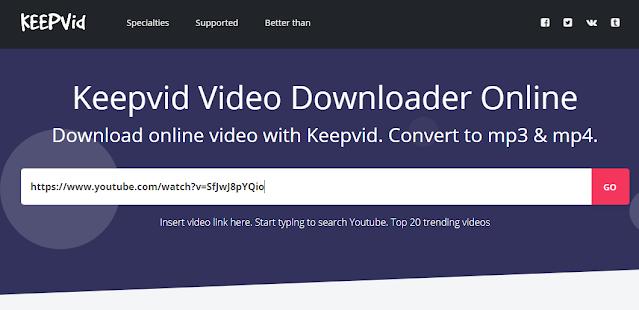 Cara mudah download video YouTube berikutnya datang dari situs Keepv.id