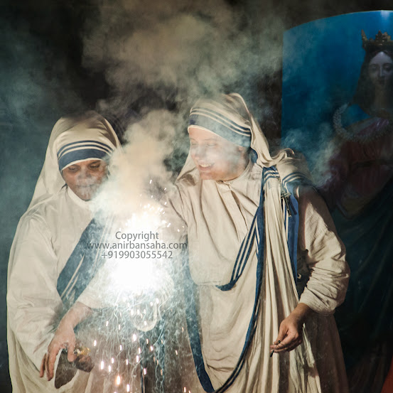 mother teresa, missionaries of charity, diwali celebration