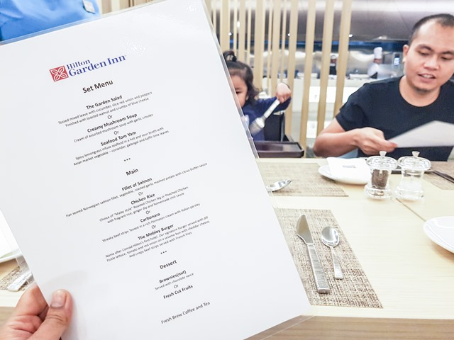 Hilton Garden Inn Puchong Room Dinner Menu