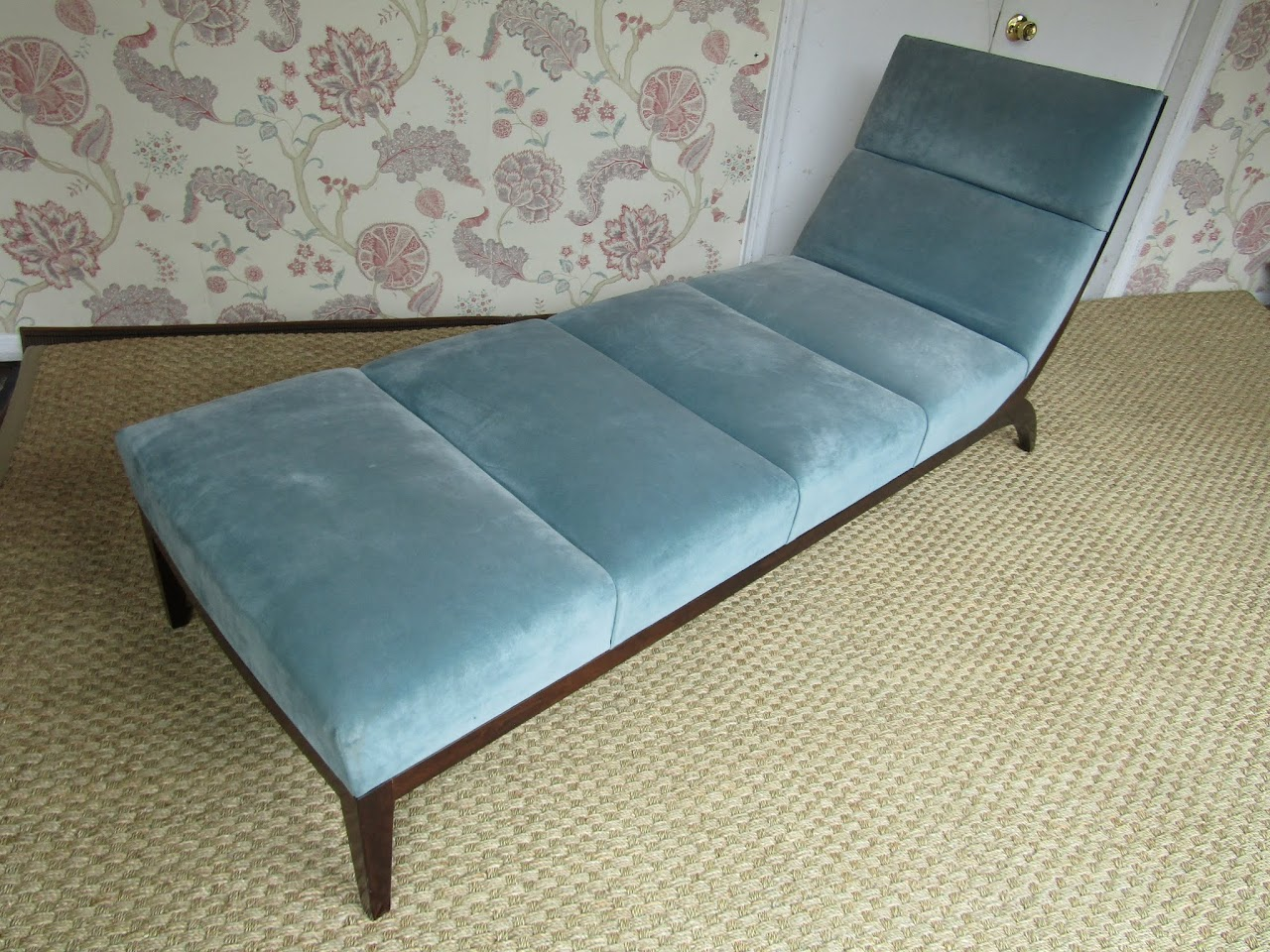 Suede Modern Chaise Lounge