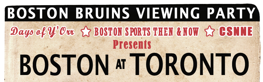 Boston Bruins Viewing Party vs. Toronto Maple Leafs