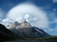 Crazy clouds in Torres del Paine National Park