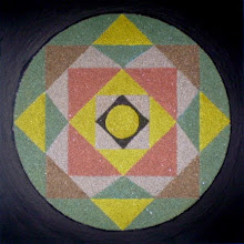 "Photo: XIII Međunarodna izložba ""Žene slikari"" 2015. Majdanpek  Mandala ""Freska uma"" (1) (mixed media; pesak, akril; 30 x 30 cm)  Autor: Nadica Janić"