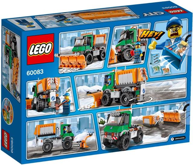 Sản phẩm Lego City 60083 Xe Tải cào tuyết Snowplow Truck 100% chính hãng