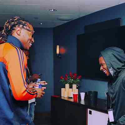 Wizkid Pictured Backstage With American Rapper, Future