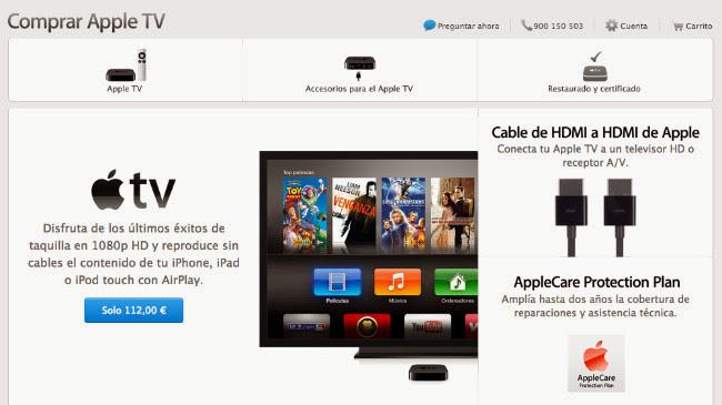 El AppleTV gana protagonismo en la Apple Store... ¿se acercan cambios?