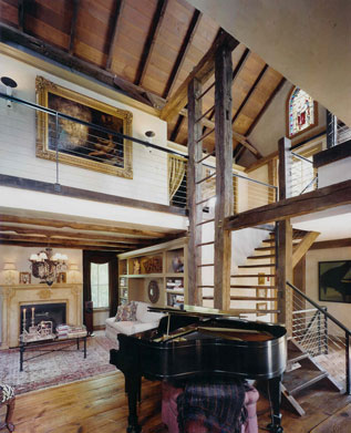 Interior Of Contemporary Barn Homes
