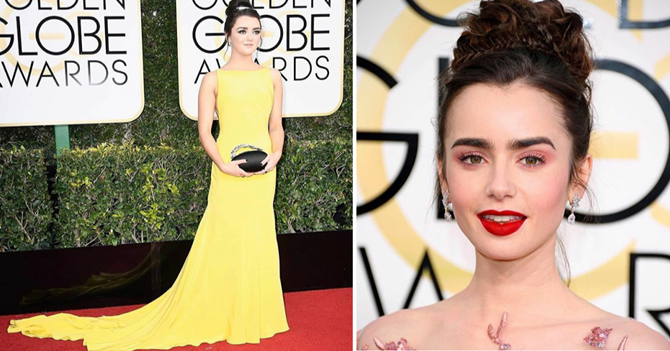 Penteados Golden Globes Awards 2017- Mayse Willians - Lily Collins