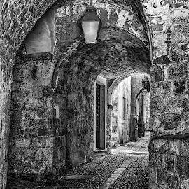 Dubrovnik old by Jose Maria Vidal Sanz - City,  Street & Park  Historic Districts ( dubrovnik, black and white, street, old city, croatia, nikon d, city )