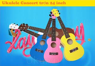 đàn ukulele concert trơn giá rẻ