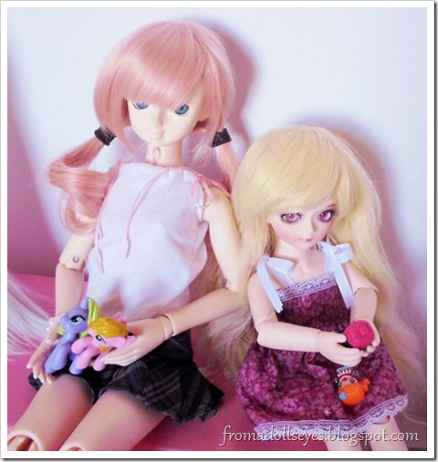 A msd sized ball jointed doll and yosd sized ball jointed doll, both were purchased on sale.