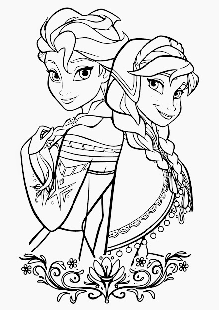 Frozen Coloring Pages  More