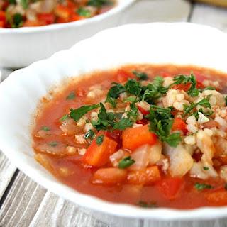 Vegan Stuffed Pepper Soup (Vegan, Gluten-Free, Dairy-Free).