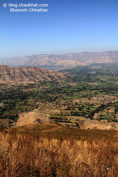 Breathtakingly beautiful seemingly endless panoramic view from Harrison's Folly near Panchgani hill station