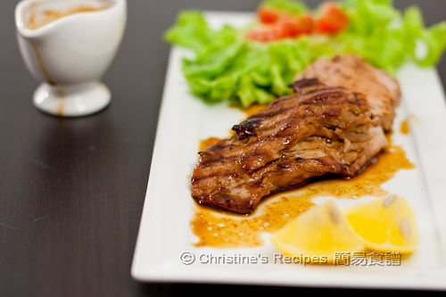 烤豬柳配薑檸檬汁 Grilled Pork Fillet in Ginger Honey Sauce01