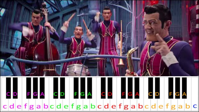 We Are Number One (Lazy Town) ~ Piano Letter Notes
