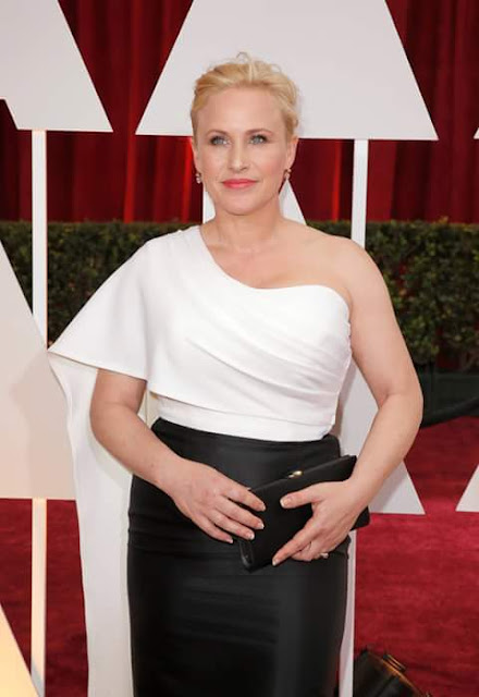Patricia Arquette party wear dress pose