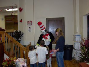 The kids loved seeing the Cat in the Hat and so did Amber - our Program Coordinator