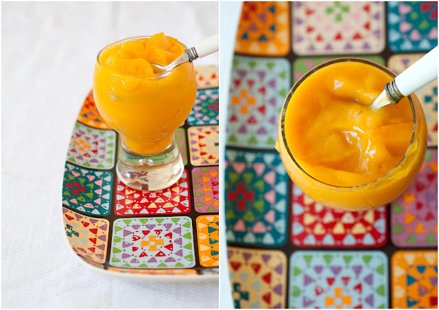 mango banana smoothie sorbet