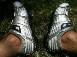 Part of a series of 'artistic' shots of the feet that got me there 2012 Bris to Goldy ride