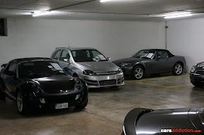 Smart and Mazda MX5