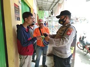 Polsek Bojong Polres Purwakarta Perketat Aturan Protokol Kesehatan di Wilayah Hukumnya