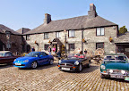 MGs on display at Jamaica Inn.