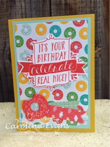 Stampin' Up! DSP punch art donut