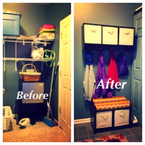 The Laundry Room to Mud Room Makeover! The Reveal!! Finally!!