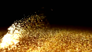 gold dust from ocean waters