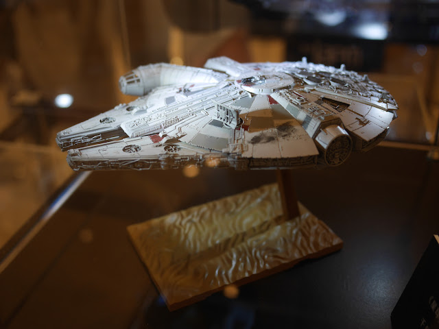 small model of the Millennium Falcon at the IAPM shopping center in Shanghai