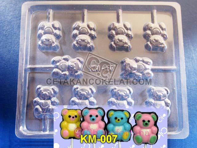 Cetakan Coklat KM007 KM07 KM7 KM cokelat lolipop lollipop lolypop teddy bear