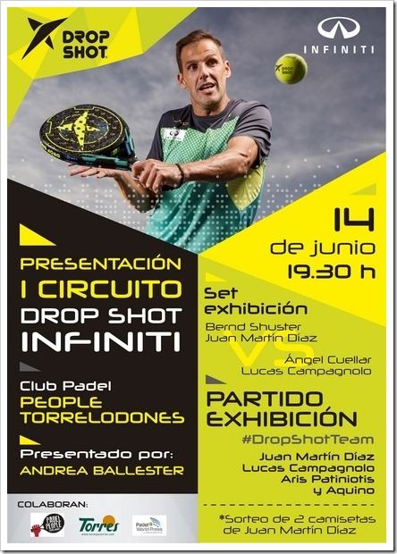 I Circuito Drop Shot Infiniti, jueves 14 junio en Club Pádel People Torrelodones.