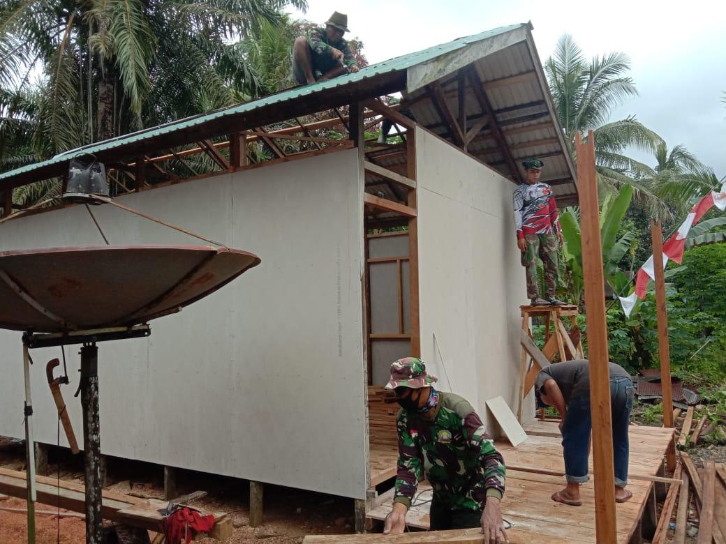 Arianto Senang Rumahnya Direhab Satgas TMMD ke 110 Kodim 1008/Tanjung